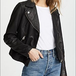 Madewell washed leather moto jacket